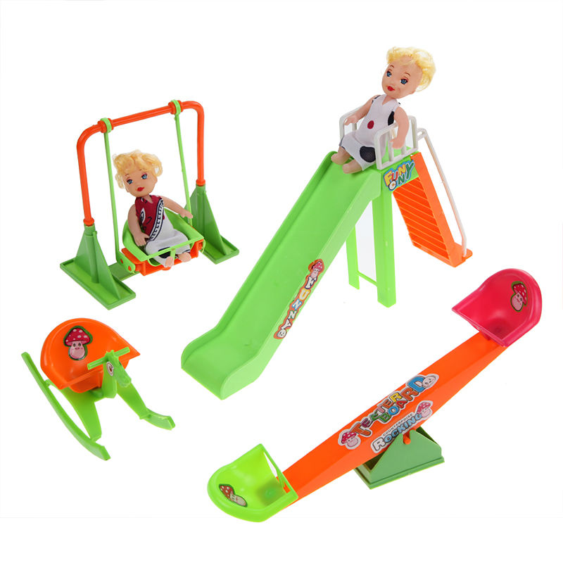 Childrens Seesaw Doll Pretending Toy Sets for Kids Educational Funny Toy  Families Doll Furniture Dollhouse #1JT<br><br>Aliexpress