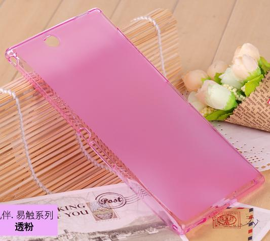 case sony Xperia Z Ultra XL39h C6802 C6833 cover ZU L4 cases candy rubber silicone cell phone Scrub - Hongkong NO.1 store