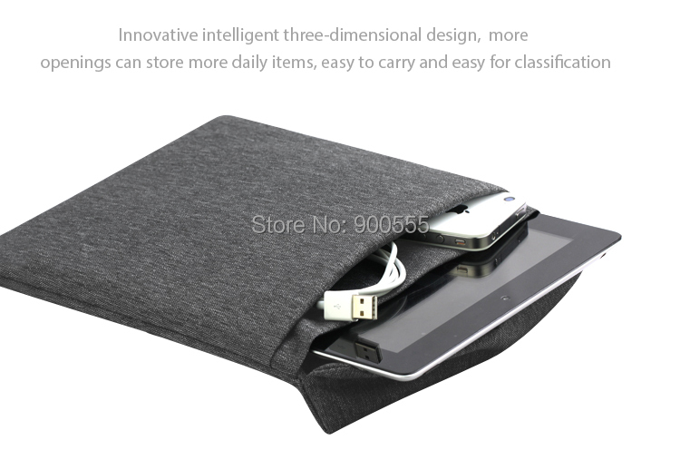 new high quality nylon fashion solid protective sleeve tablet PC bag for ipad mini(China (Mainland))