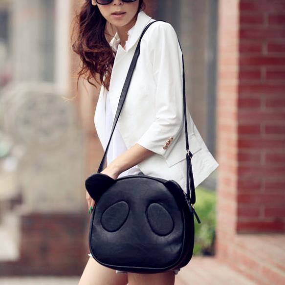 2014 Fashion Girl Student Cute Panda Bag Single Shoulder Crossbody bag Messager Tote New #L09238(China (Mainland))