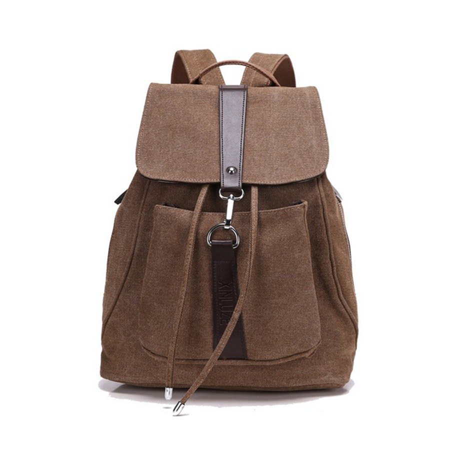 Casual Canvas Men Backpack Retro Vintage Male Students School Bags Outdoor Man Shoulder mochila