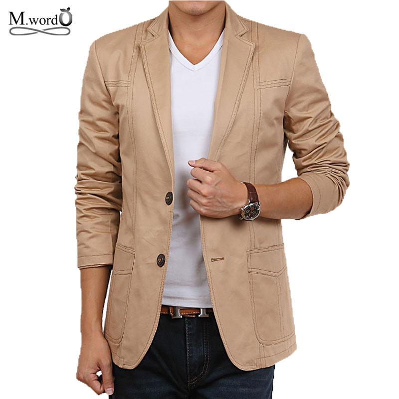 2015 High Quality New Fashion Mens Cotton Blazer Men Suit Slim Fit Jacket Men S