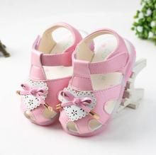 2016 New Summer Cool Baby Girls Sandals Shoes Skidproof Toddlers Infant Children Kids Lovely Shoes PU Leather More Style(China (Mainland))