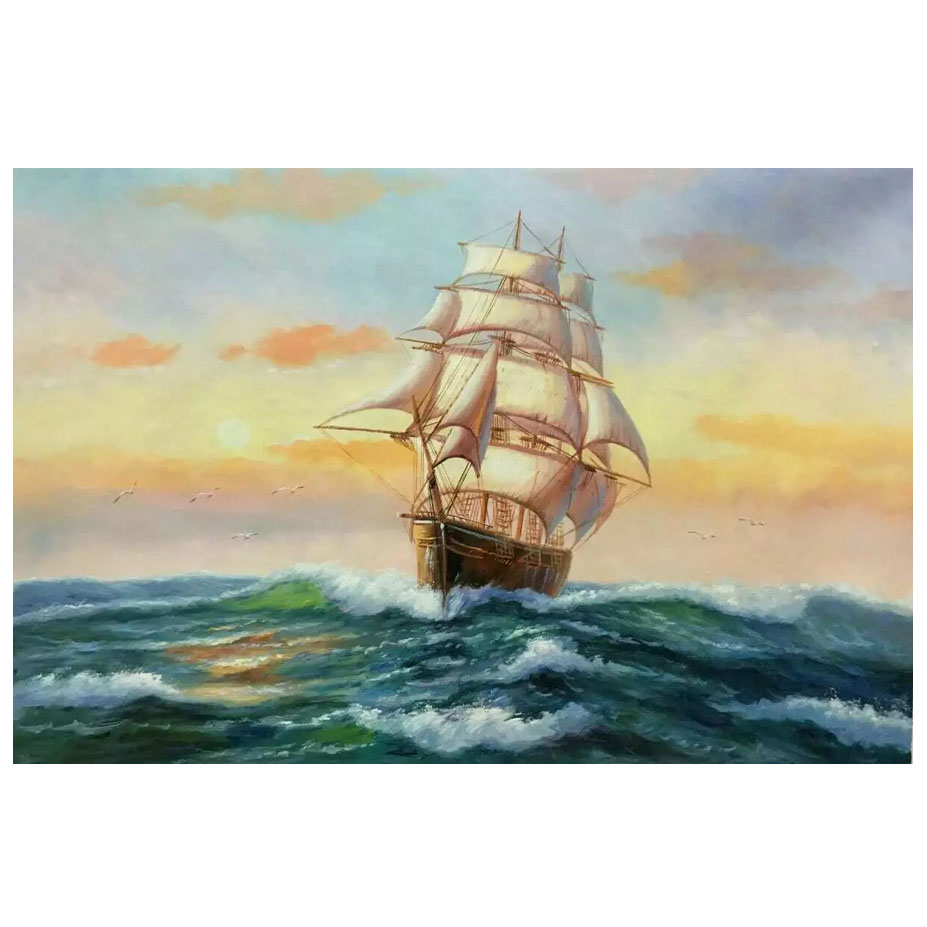 The Wind and Waves Pattern Artwork Wall Painting Prints on Canvas Home Decor Unframed Painting ML-XMLP-006(China (Mainland))