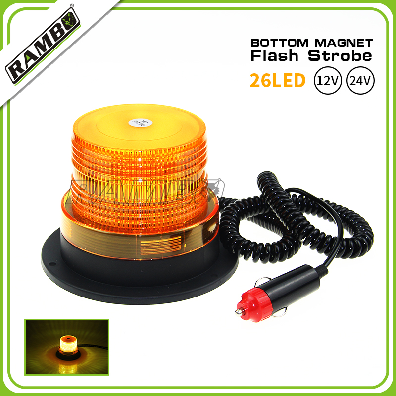 24V Boutique LED Flashing Yellow Light Fork Truck Vehicle Car School Bus Ceiling(China (Mainland))
