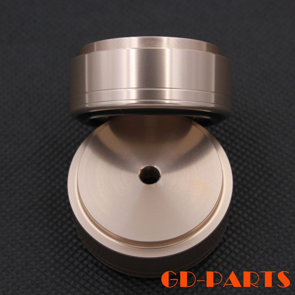 4pcs 38*17mm CNC Machined Full Aluminum turntable Record Isolation Feet Mat Speaker Cabinet HIFI AMP DAC CD Radio Stand PAD(China (Mainland))