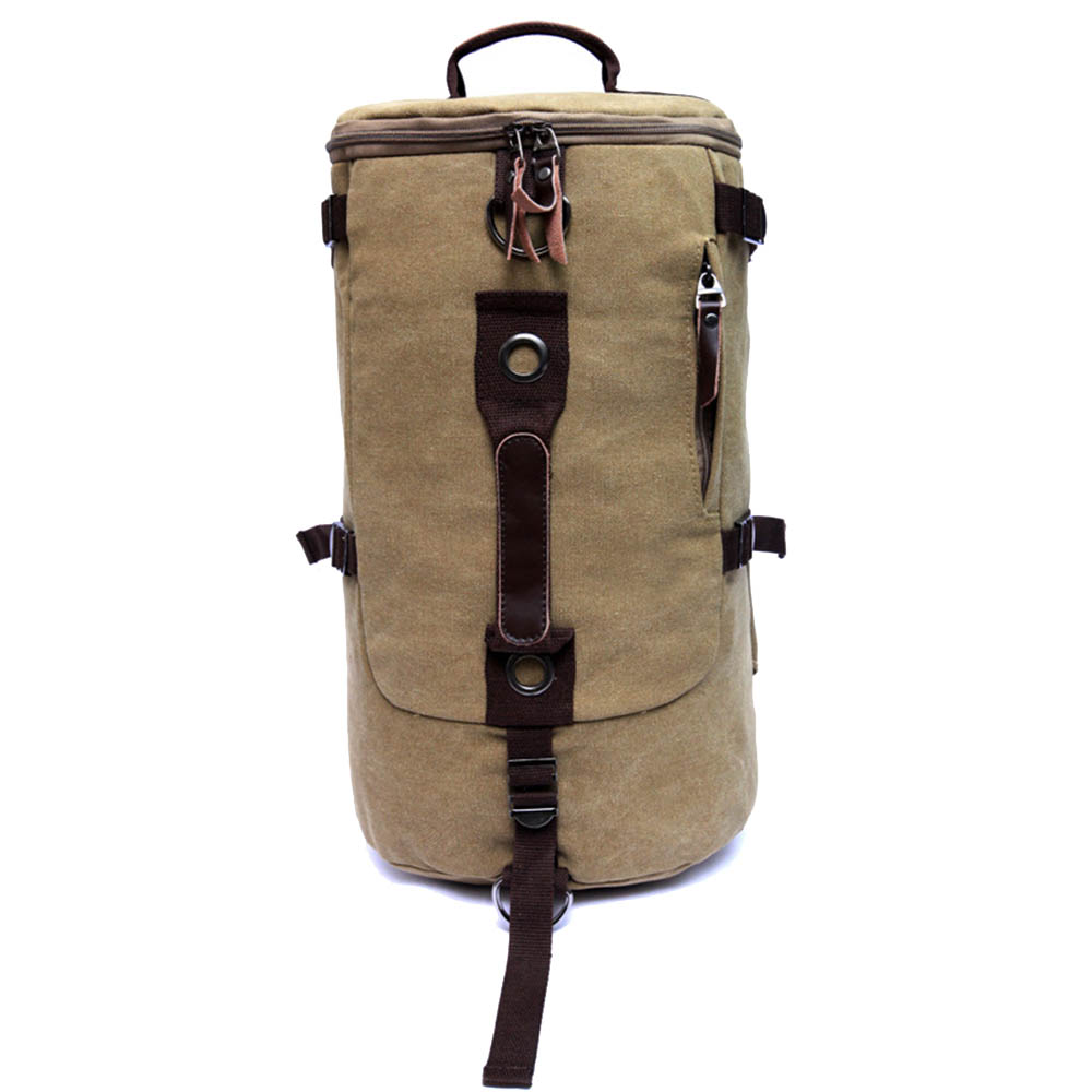 New Vintage Canvas Bucket Backpack Laptop Computer Backpack Man Sports Hiking Gym Bag Travel Bag(China (Mainland))