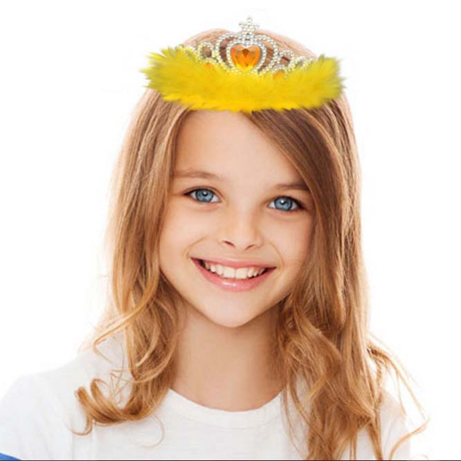 Children's carnival dance pop princess crown feathers Crown Europe(China (Mainland))