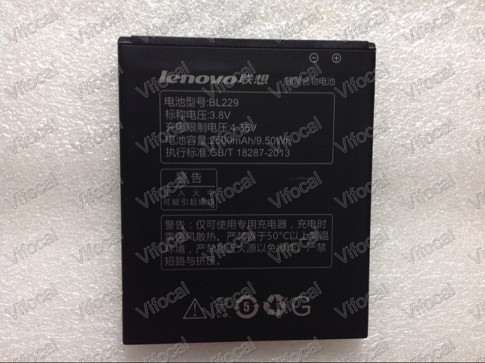 Lenovo A806 Battery New In Stock 100 Original BL229 2500Mah Battery For Lenovo A8 A806 A808t