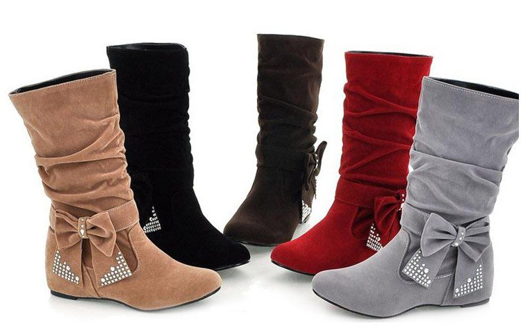 2014 Holiday Sale Fashion Boots Bow Decoration OL Style Beautiful Z184  -  jianfeng cao's store store