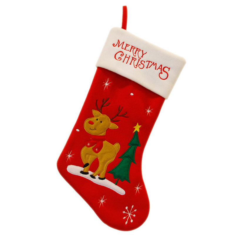 Christmas Stockings Candy Gift Bags New Year Supplies 6 Styles Christmas Decoration Accessories For Home Party Festival 5RJR60@