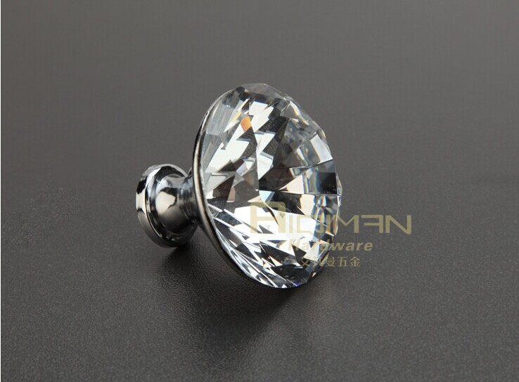 Freeshipping Wholesale 2014 New Furniture Crystal Kitchen Drawer Cabinet Knob