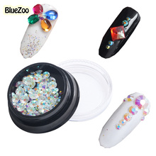 Buy BlueZoo 100pcs/box 3D Rhinestone Nail Art Decoration Resin Clear AB Nail Studs Symphony Flat Diamond Nail 2mm 3mm 4mm 5mm for $1.34 in AliExpress store