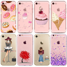 Buy Colorful Donuts Macaron Phone Cases iphone 7 7plus 6 6S 5 5S SE 6Plus 6SPlus Girls Design Love Heart Phone Case iPhone for $1.19 in AliExpress store