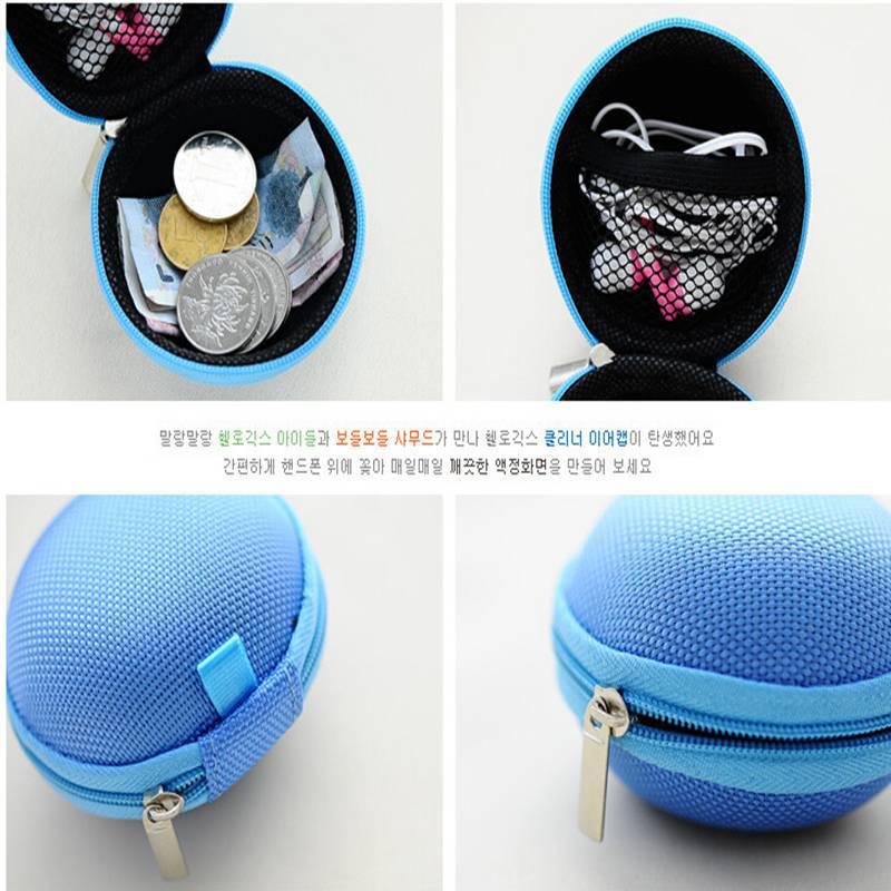 Hot 2015 New Women Kids Oval Mini Coin Ellipse Personality Canvas Clutch Bag Wallets headphones Purses