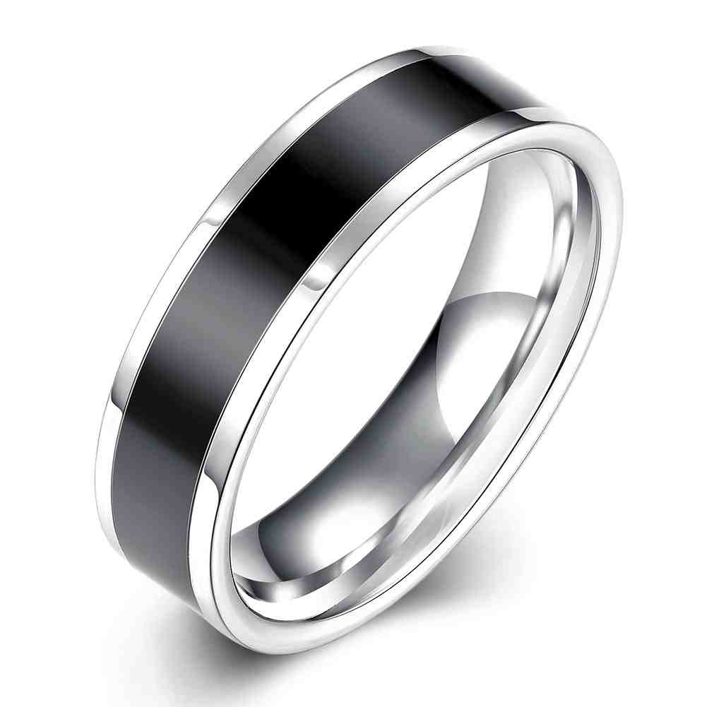 Free Shipping online shopping india Titanium Steel rings for women Black circle anillos to.us bear bone TSGR020(China (Mainland))