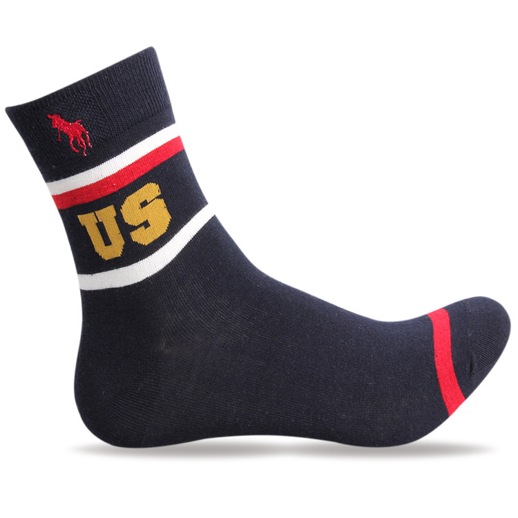 Men's Cotton Socks 2015 New Arrival Polo Brand Socks Men Casual Letter Print Dress Business Socks Men harajuku basketball sox(China (Mainland))