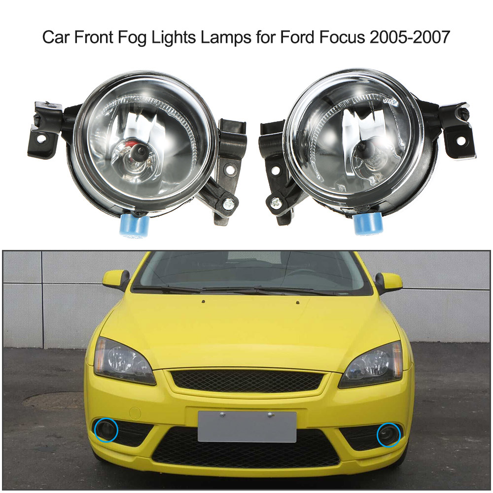 Car-styling LED Fog Lights for Ford Focus 2005-2007 Clear lens Car Front LED Lamp Set for Ford focus Rear Light Bar(China (Mainland))