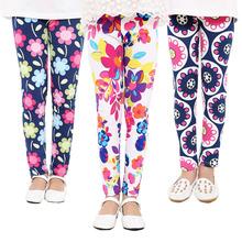 Summer Style 2-9Y Baby Kids Leggings Children's Clothing Girl Pants  Printing Flora Girls Leggins Toddler Classic Legging.(China (Mainland))