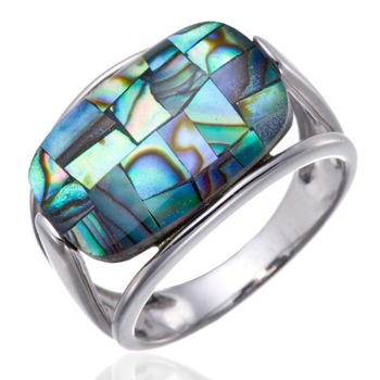 Beautiful Abalone Shell Solid 925 Sterling Silver Rings for women Fine Jewelry