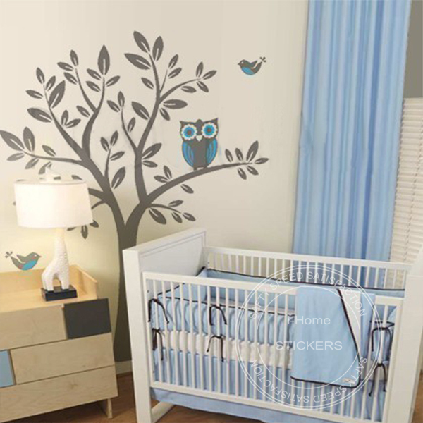 buy large wall stickers landscape tree decals nursery kids large owl hoot star tree kids nursery decor wall decals