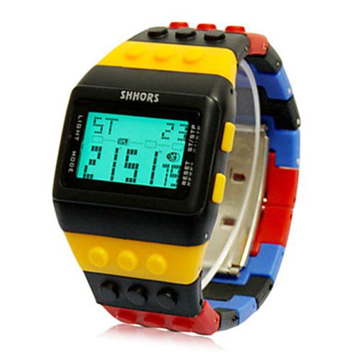 2016 New Fashion Men Sports Watches Block Digital LED Watch Famous Brand Quartz Men Wristwatches Colorful Clock Hours(China (Mainland))