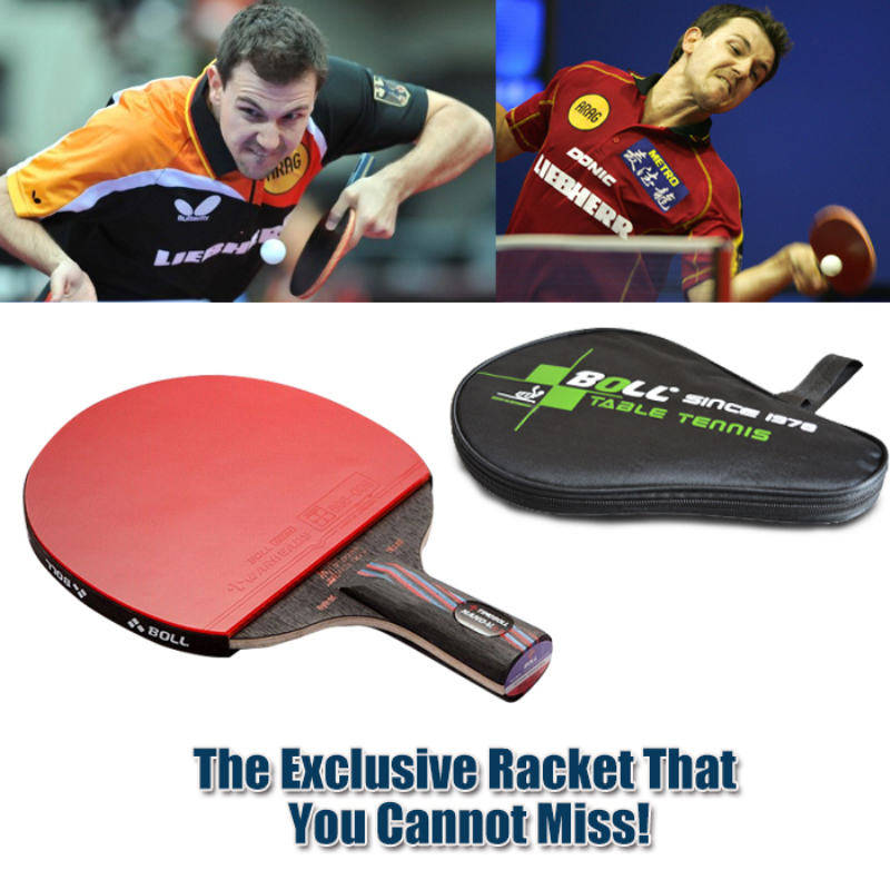 1x Brand quality Carbon Fiber Table tennis racket Blade with double face Pimples-in Racket rubber bat Boll NANO-V with bag(China (Mainland))