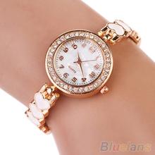 Fashion Love Heart Suede Analog Quartz Bracelet Bangle Wrist Watch Women