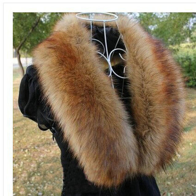 Шарф шляпа перчатки комплект воротники поддельные лисий мех воротника имитация енота ...
