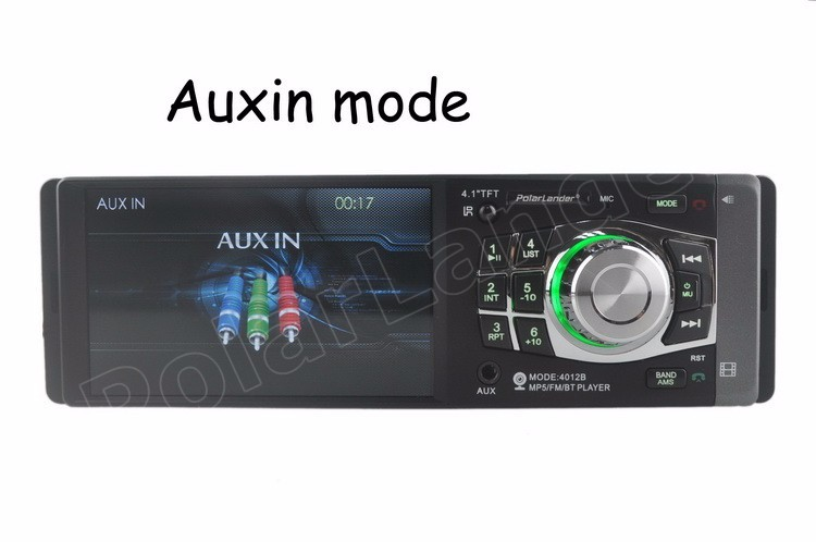 4.1 inch 1 DIN HD TFT screen car radio MP5 MP4 player bluetooth 12V car audio Support rear camera steering wheel remote control