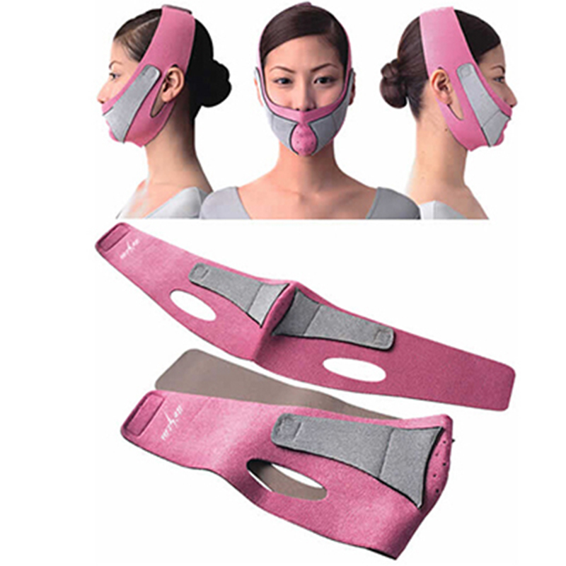 Slimming Face Mask Cheek Up lift Chin Face Belt Bandage Health Care Weight Loss Massage Relaxation products lifting mask(China (Mainland))