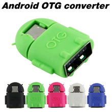 Android Robot Shape Micro Mini USB OTG Adapter Cable For Tablet PC MP3/MP4 smart Phone Free shipping
