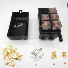 Car seat relay fuse box 5 engine compartment insurance car insurance holder include 5 relay 12V 80A(China (Mainland))