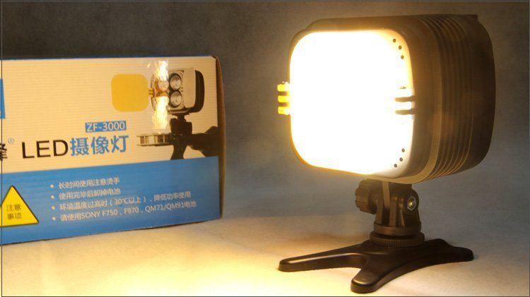 3400K-6000K ZF3000 LED video photography camera 2800Lm light lighting &amp; F770  battery<br><br>Aliexpress