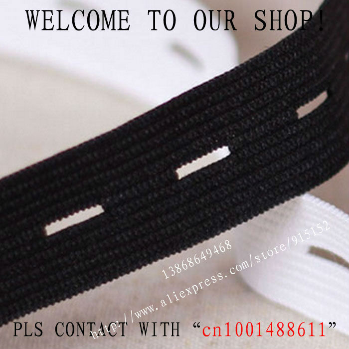 Free shipping The thicken 30mm Width black Elastic Tape Button Hole Elastic Stretch Webbing Maternity belt 16 Yards/lot(China (Mainland))