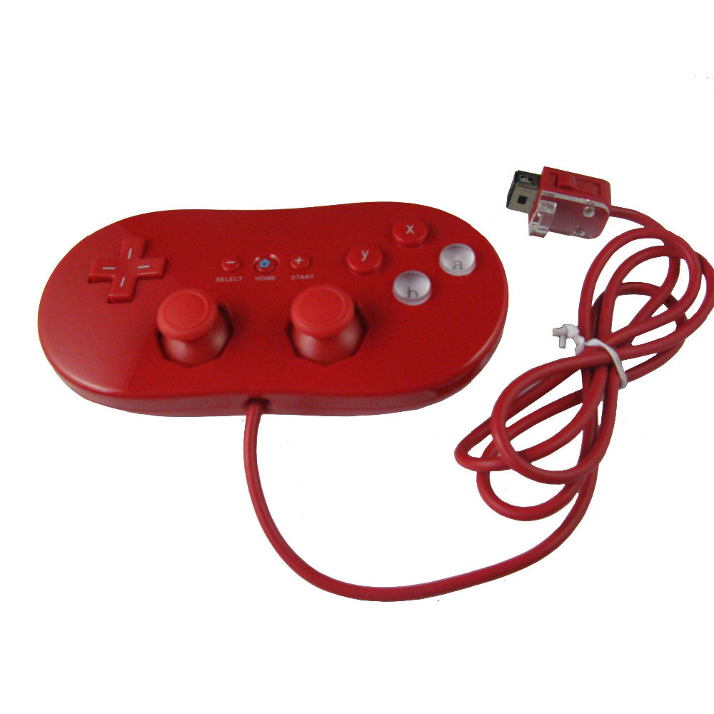 Red Wired Classic Controller for Nintendo Wii Remote Console Video Game(China (Mainland))