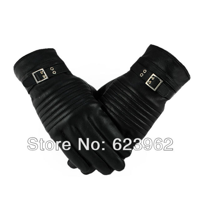 Good quality sheep skin men's winter warm gloves