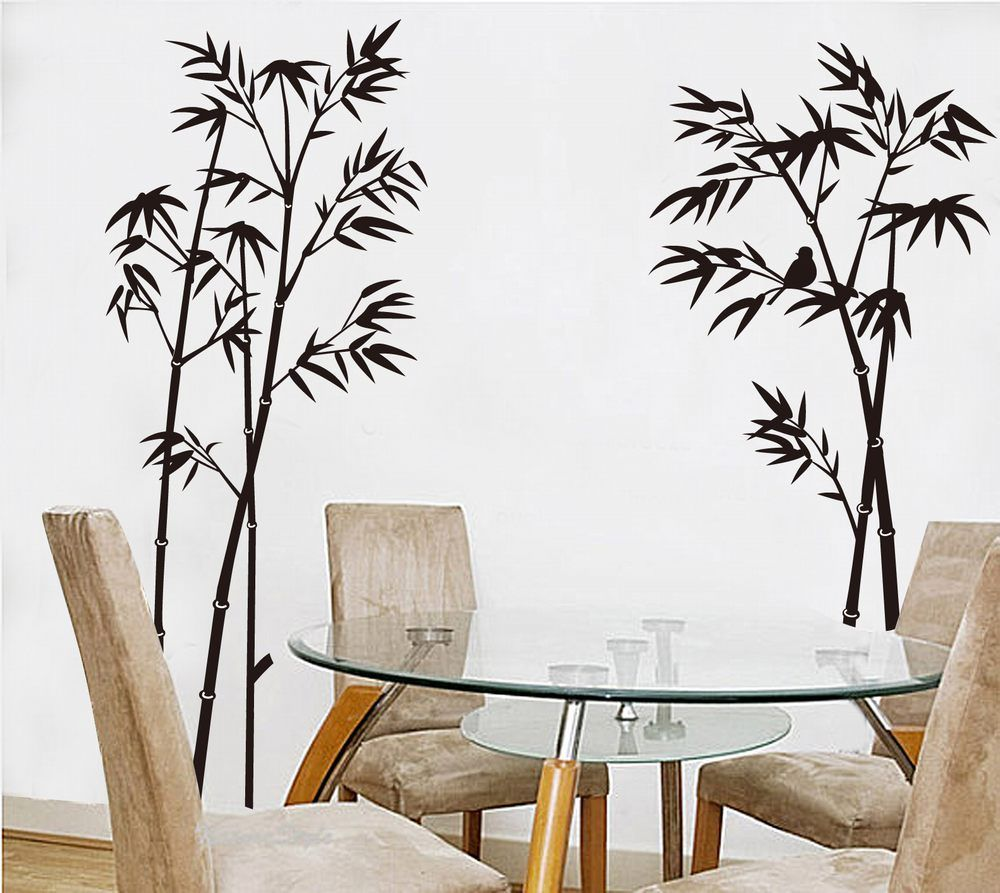 5pcs/lot Bamboo Mural Home Decor Decals Removable Craft Art Wall Stickers