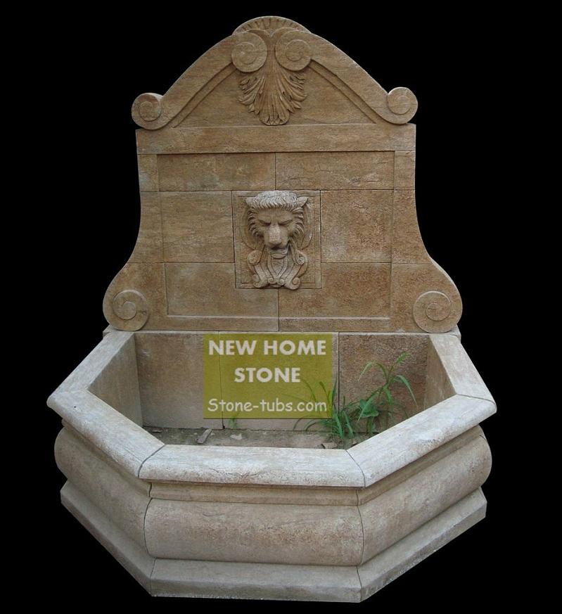 tuin fontein tuin marmeren leeuw muur fontein ontwerper klassieke met de hand gesneden stenen
