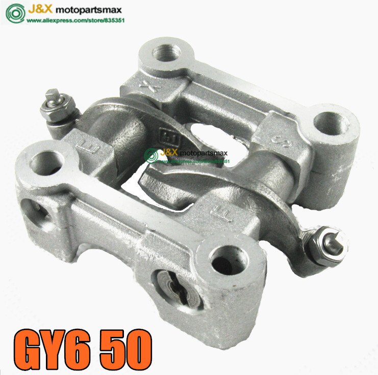 ROCKER ARMS SCOOTER PARTS GY6 50 139QMB Scooter Moped Cam shaft Holder bracket rocker Arms assy for 64mm valve GY6 50cc(China (Mainland))