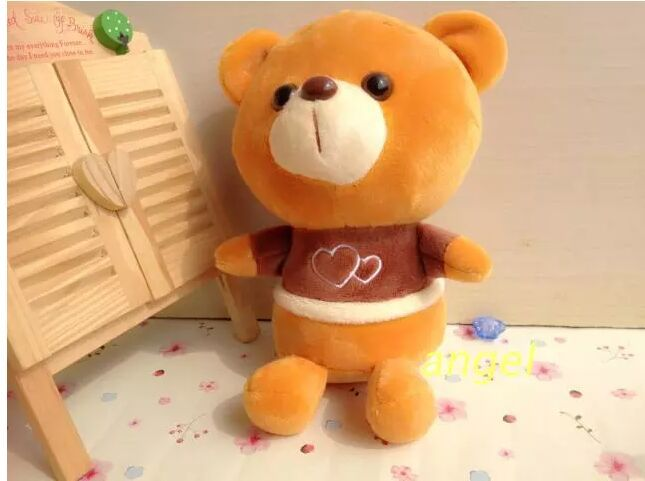 10 pieces small cute dark brown love bear toys plush love teddy bear dolls gift about 20cm<br><br>Aliexpress