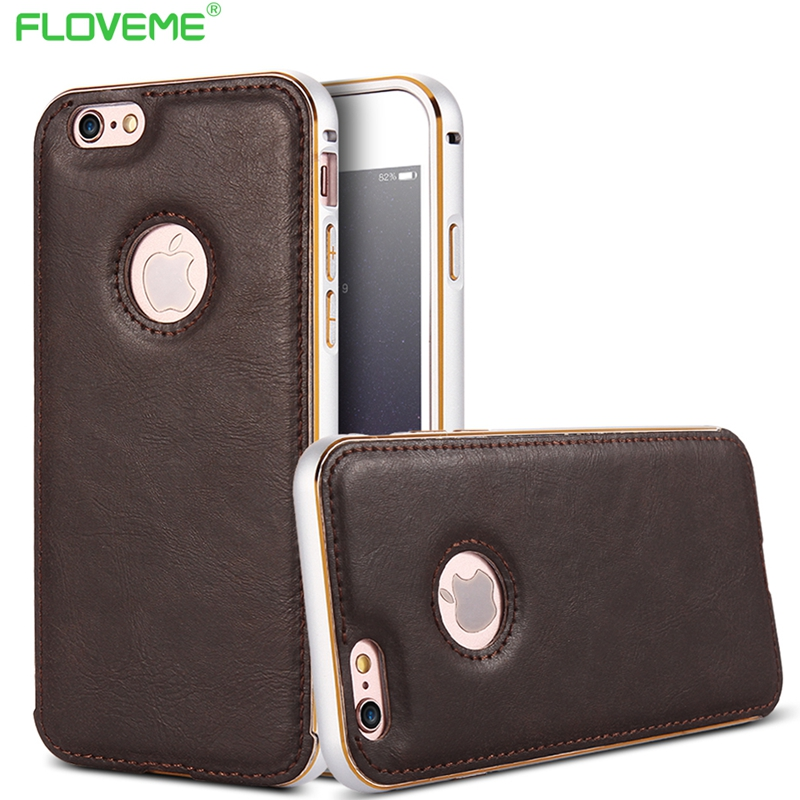 Classic Capa For Apple iPhone 5 5S SE Metal + Leather Ultra Dual Color Phone Cover For iPhone SE 5 5S Case Sleeve With Logo Hole(China (Mainland))