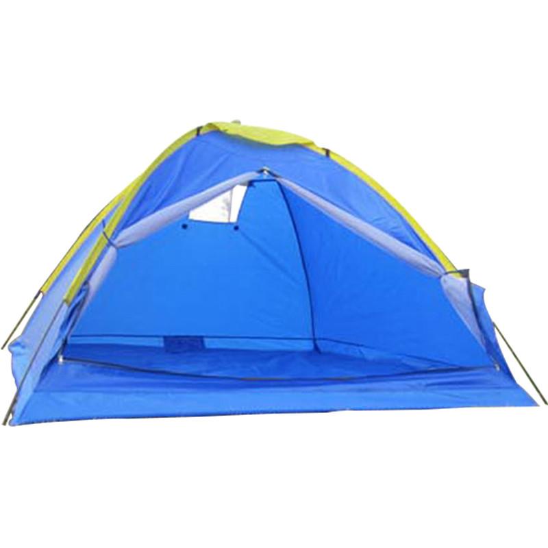 Waterproof Ultralight 3-4 person 3 season single layer outdoor travel camping hiking beach tourist folding tent(China (Mainland))