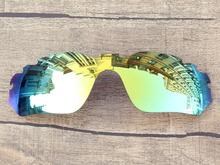 24K Golden Mirror Polarized Replacement Lenses For Radar Edge Vented Sunglasses Frame 100% UVA & UVB Protection
