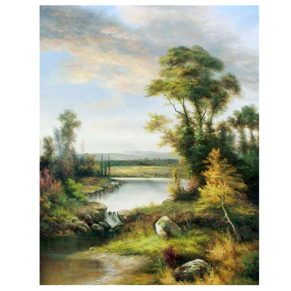 Green Trees Landscape Picture Painting on Wall Canvas Printings Home Decoration for Living Room ML-XMLP-004(China (Mainland))