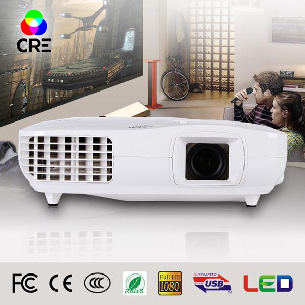 3D full hd TV 1920 x 1080p mini led projector 3000 lumens LED Projector CRE 2016 new arrival