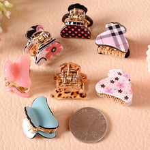 6pcs/lot European Classic Plaid Hair Claws Children Hair Clip Fashion Hair Accessorie