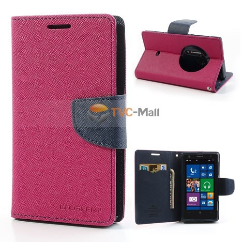 Mercury Fancy Diary Leather Wallet Case & many other color Leather Case Stand for Nokia Lumia 1020 Freeshipping