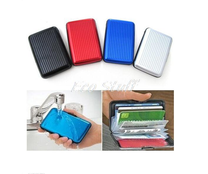 High Quality Metal Waterproof Business ID Credit Card Wallet Holder Aluminum Case Box Free Shipping(China (Mainland))