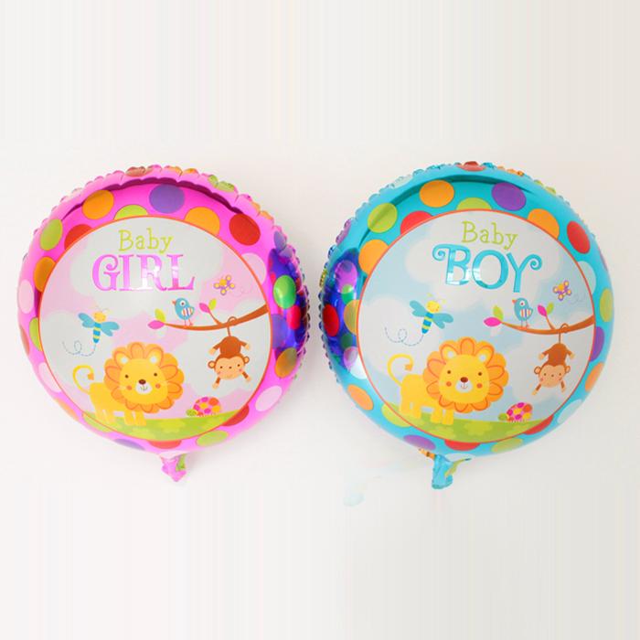 18 polegada leão macaco padrão de pontos balão de aniversário da criança bebê dos desenhos animados laciness balão de alumínio(China (Mainland))